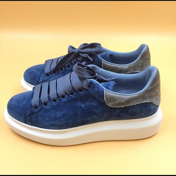 Alexander Mcqueen Velvet Blue Oversized